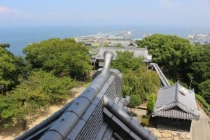 川之江城からの展望