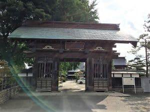 青岩寺の山門