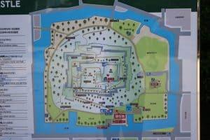 丸亀城の案内図