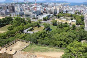 丸亀城からの展望