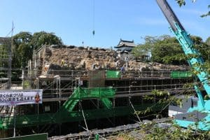 弘前城の石垣修理