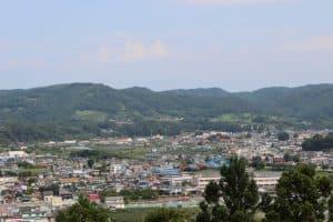 三戸城からの展望