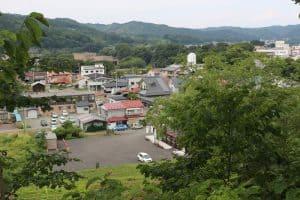 九戸城からの展望