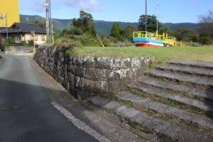肥後内牧城「二の丸」石垣遺構