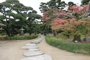 高松城の庭園