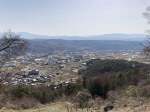 信濃・富士見城(大室城)からの展望