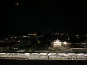 福山城のライトアップ