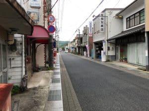 矢掛町の旧山陽道沿い古い町並み