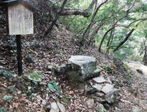 大石内蔵助の腰掛け石
