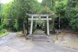 備中・茶臼山城の八幡宮