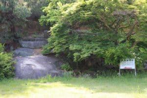 龍泉寺の太閤腰掛岩