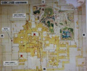 名古屋城の縄張り図