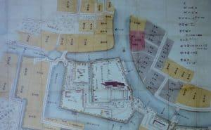 伊勢長島城の縄張り図