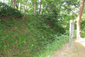 春日山城の空堀