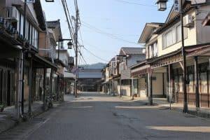 栃尾城の城下町
