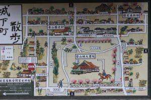 篠山城の散策マップ