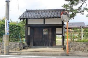 旧豊岡藩庁門