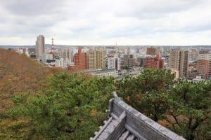 久保田城からの眺め