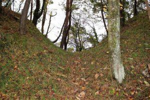 檜山城の堀切