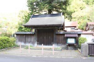檜山城の移築門・薬医門