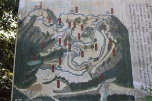 笠間城の案内図