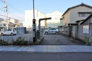 土浦城の駐車場
