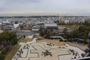 岸和田城からの展望