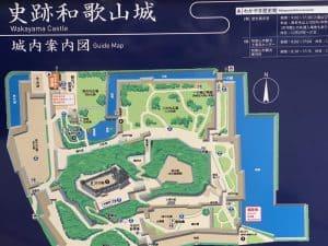和歌山城の案内図