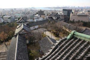 和歌山城からの展望
