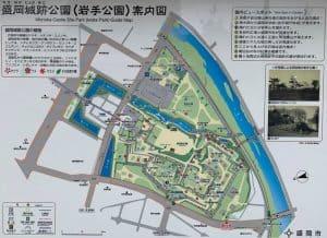 盛岡城の案内図