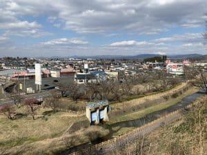 花巻城からの展望