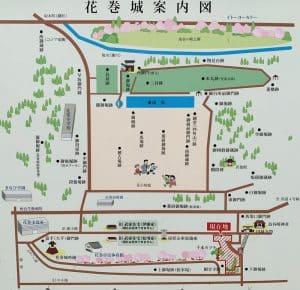 花巻城の案内図