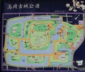 越中・高岡城の案内図