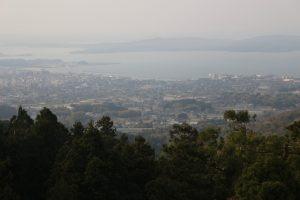 七尾城から小丸山城方面