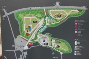 小丸山城の案内図