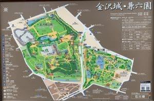 金沢城の案内図