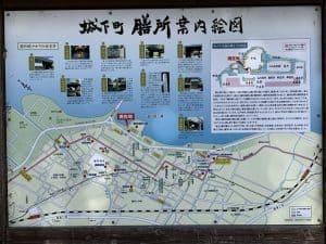 膳所城の案内図