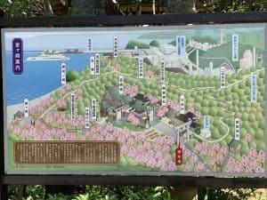 金ヶ崎城の案内図