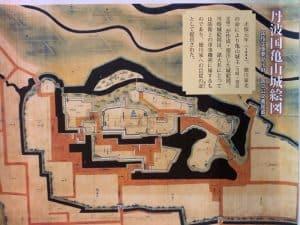丹波・亀山城の絵地図
