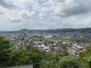 土岐高山城からの展望