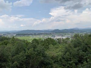 明智長山城からの展望
