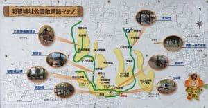 明智長山城(美濃・明智城)の案内図