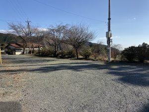 阿久沢城の駐車場