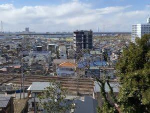 松戸城跡からの展望
