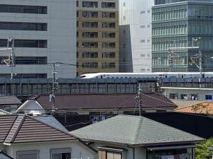 篠原城から新幹線