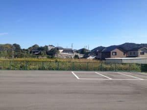 長沢城遠景