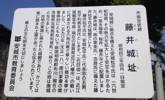 藤井城の看板