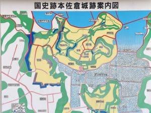 本佐倉城の案内図