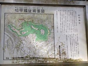 松平城縄張図