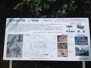 赤日子神社脇の縄張り図